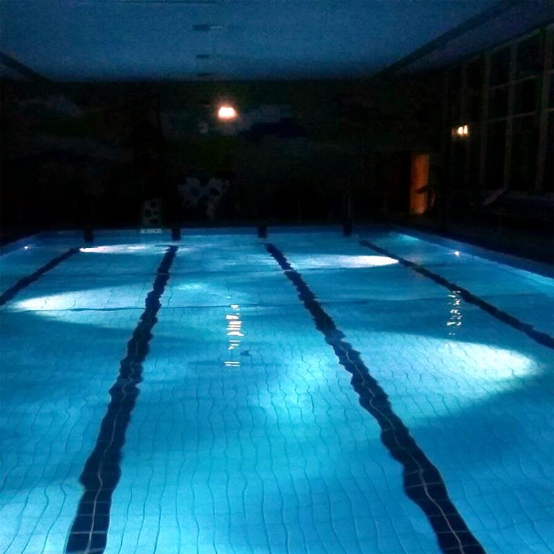 Schwimmbad Rommerskirchen neue led beleuchtung für das sonnenbad martin mertens